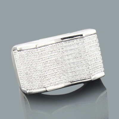 Mens Silver Rings: Affordable Mens Diamond Ring 0.82ct