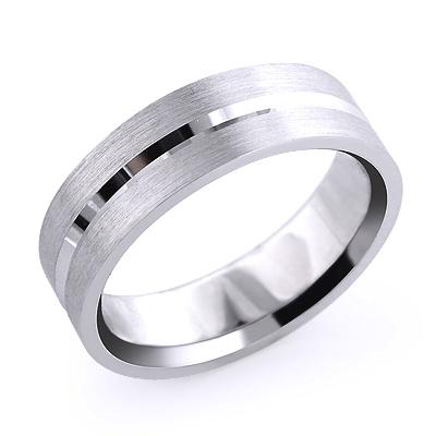 Mens Simple Wedding Band Solid Platinum