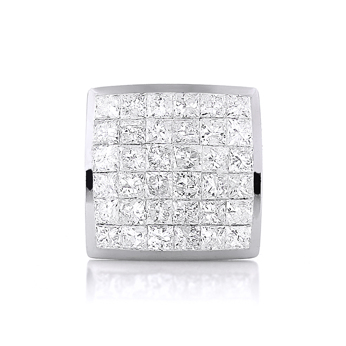 Men's Single Princess Cut Diamond Stud Earring 14K Gold 1ct