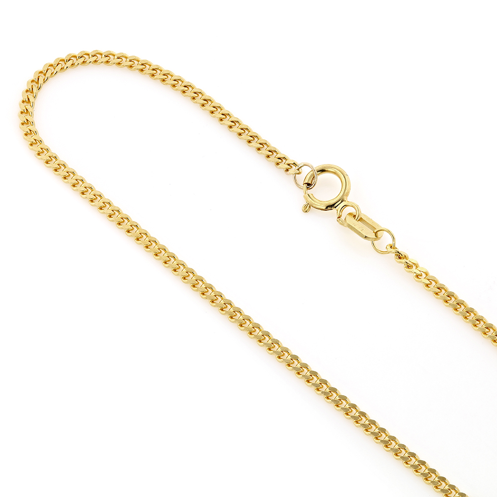 Mens Miami Yellow Gold Cuban Link Curb Chain 14K 1.5mm 22-40in