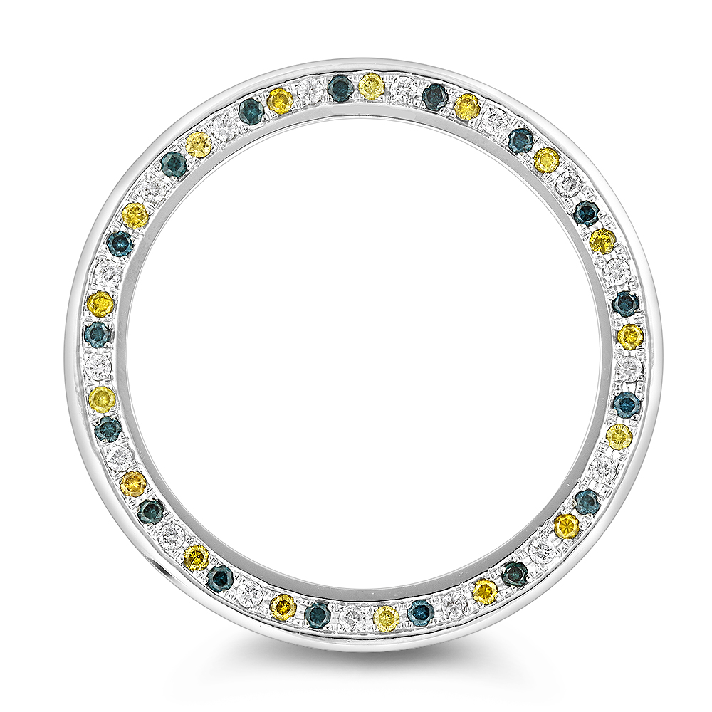 Multicolor Diamond Replacement Bezel for Mens Luxurman Raptor Watches 3.5ct