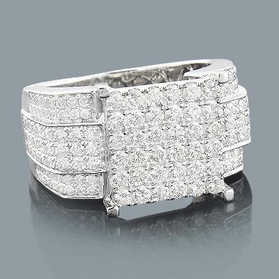 Oversized Diamond Engagement Ring 2.19ct 14K