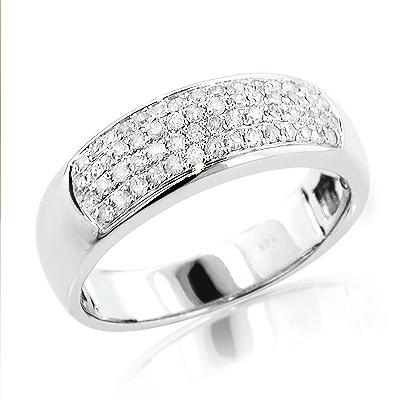Pave Ladies Diamond Wedding Band 0.42ct 14K Gold