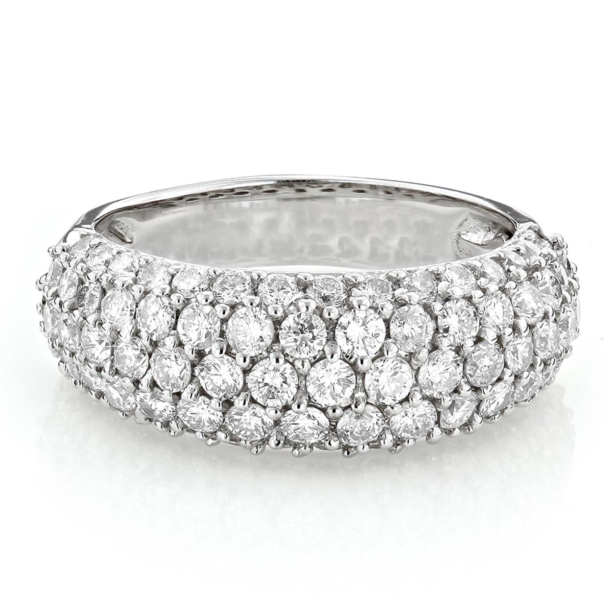 Pave Ladies Diamond Wedding Band 2.2ct 14K Gold Ring