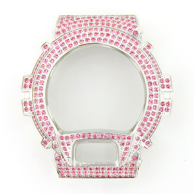 Pink G-Shock Bezel with Crystals