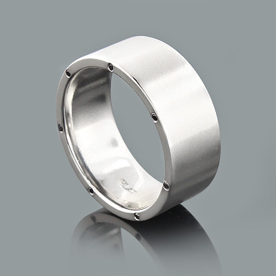 Platinum Eternity Band with Black Diamonds 0.21ct Custom Made Jewelry