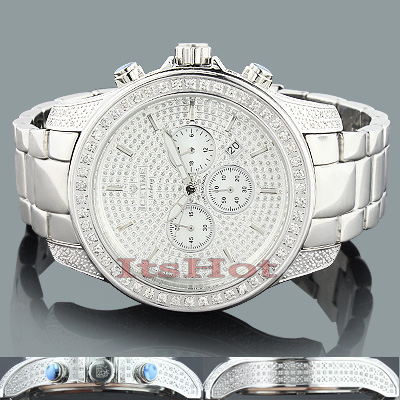 Polished Ice Time Mens Diamond Watch 2.50ct