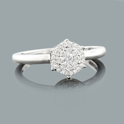 Pre Engagement Diamond Ring 0.23ct 14K Gold