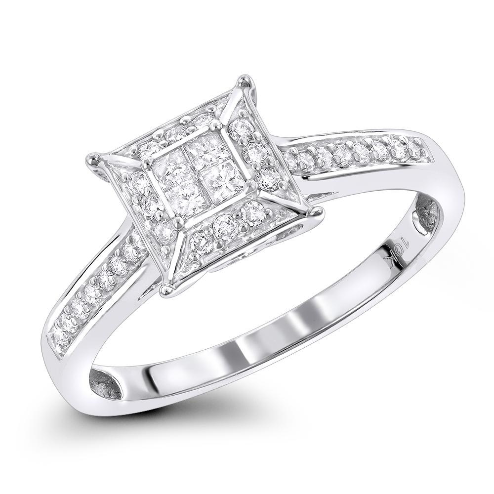 Pre-Engagement Rings: Diamond Promise Ring 0.34ct 10K