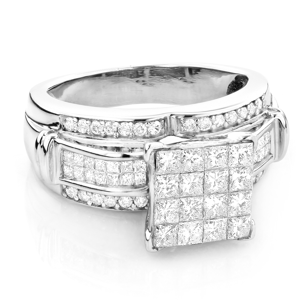 Princess Cut Diamond Engagement Ring 1.5ct 14K Gold