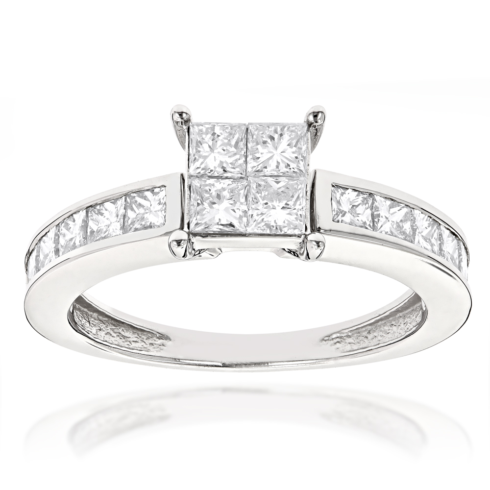Princess Cut Diamond Engagement Ring 2.25ct 14K Gold