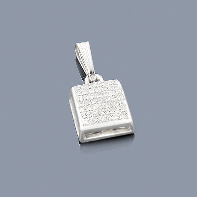 Princess Cut Diamond Pendant 0.60ct 14K