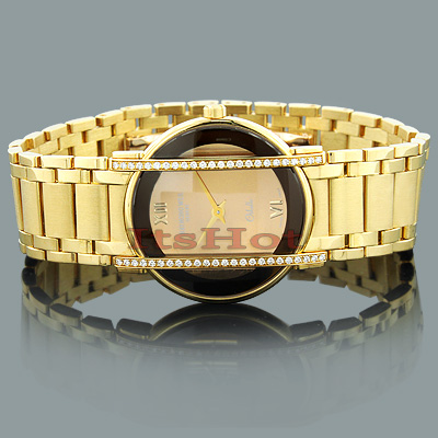 Raymond Weil 18K Gold Luxury Watches: Othello Ladies Diamond Watch 0.46ct