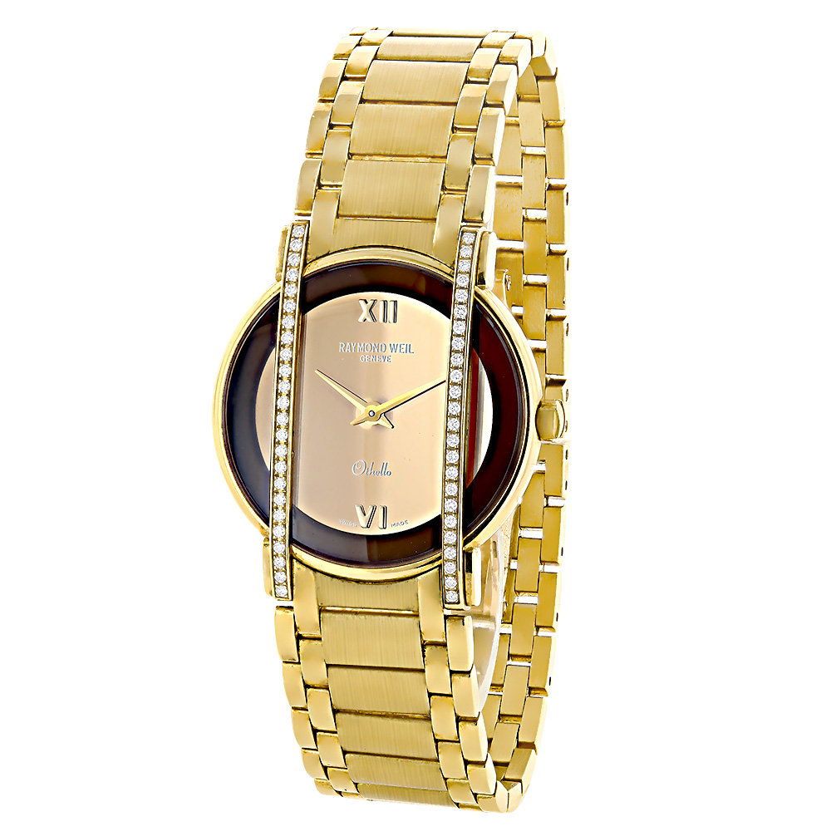 Raymond Weil Luxury Watches: Othello Ladies 18K Gold Diamond Watch 0.48ct