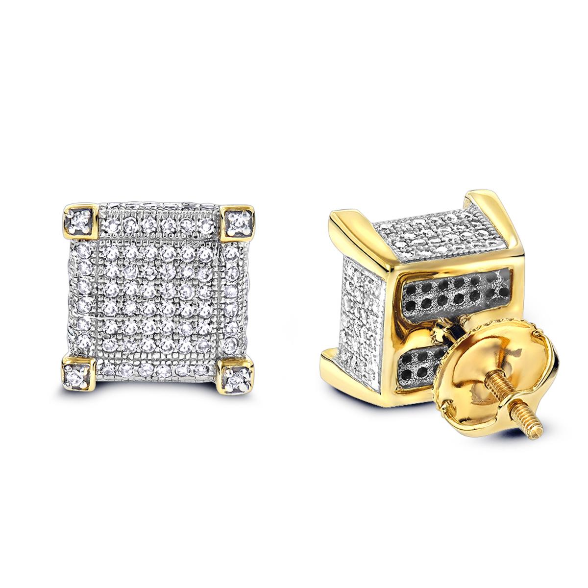 Real Diamond Earrings 14K Diamond Stud Earrings 0.7