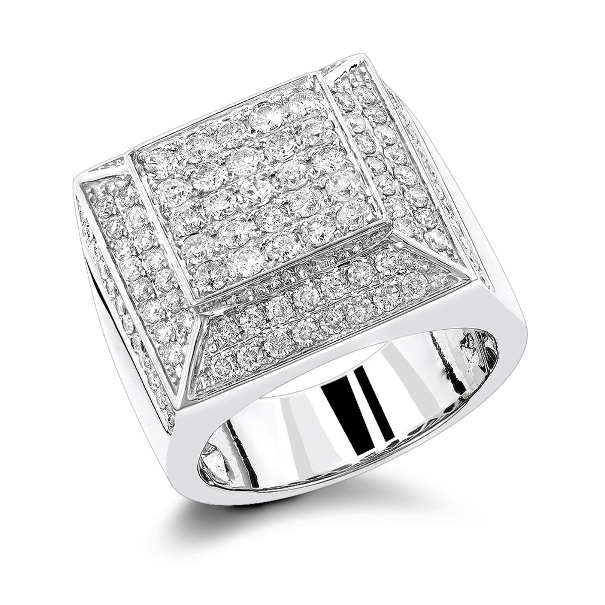 Real Hip Hop Diamond Ring 3.80ct