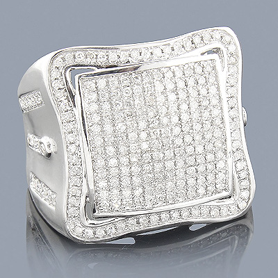 Real Hip Hop Jewelry: Mens Diamond Ring 10K 1.04ct
