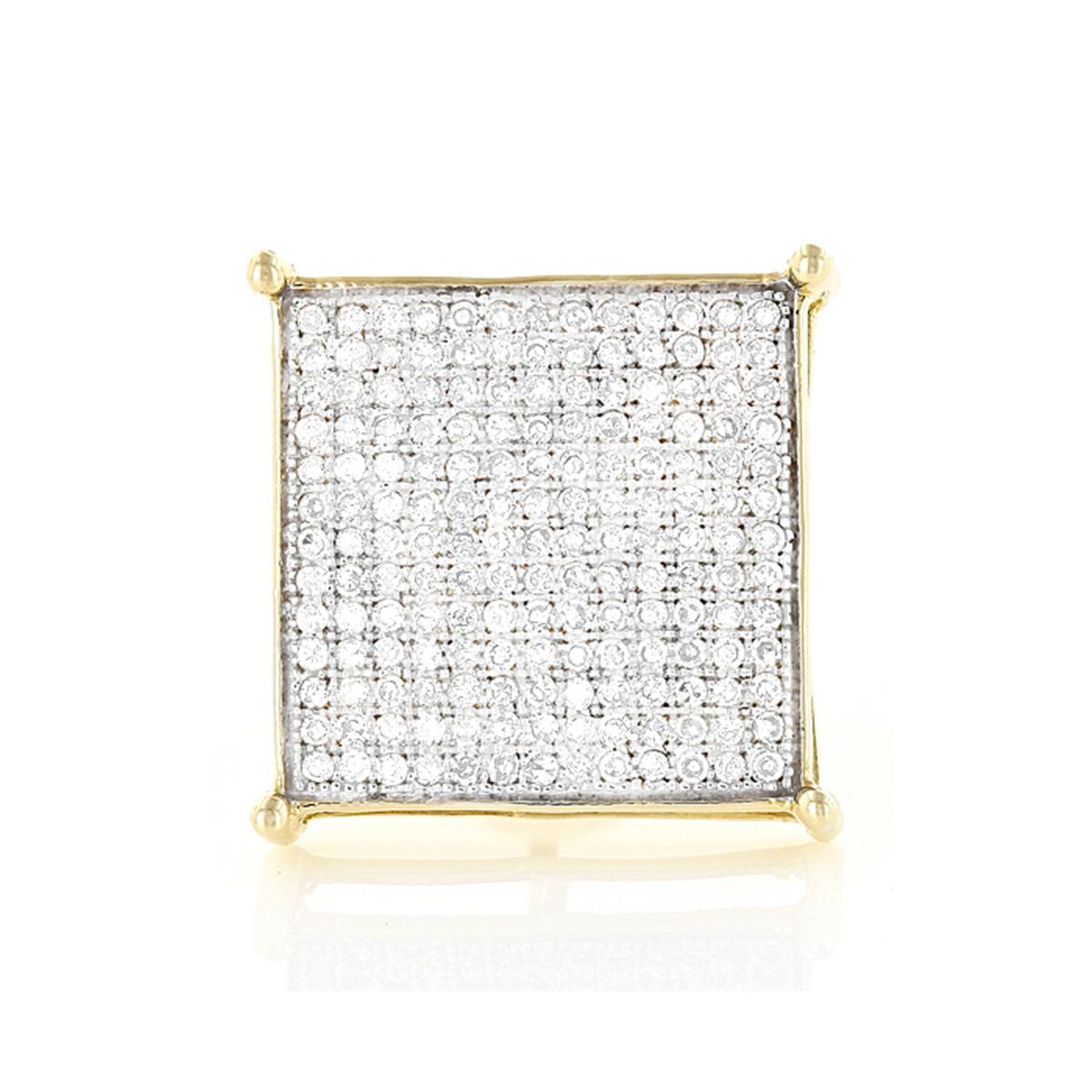 Real Hip Hop Jewelry:10K Gold Men's Diamond Oversized Stud Earring  0.6ct