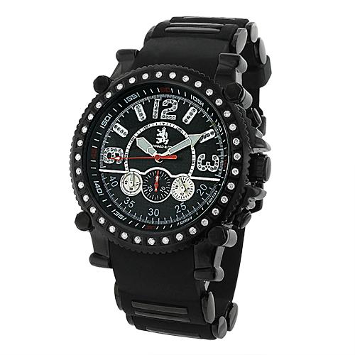Richard & Co Mens Diamond Black Watch 1.0ct