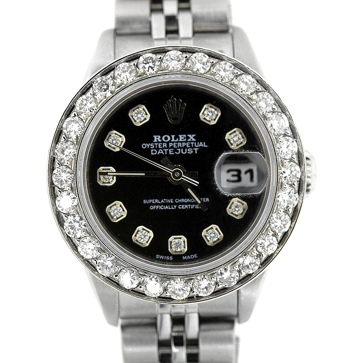 Rolex Datejust Diamond Watch for Women 1.7ct Stainless Steel