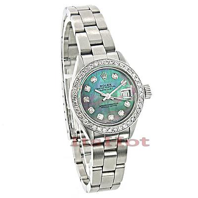 Rolex Datejust Ladies Custom Diamond Watch 2.50ct