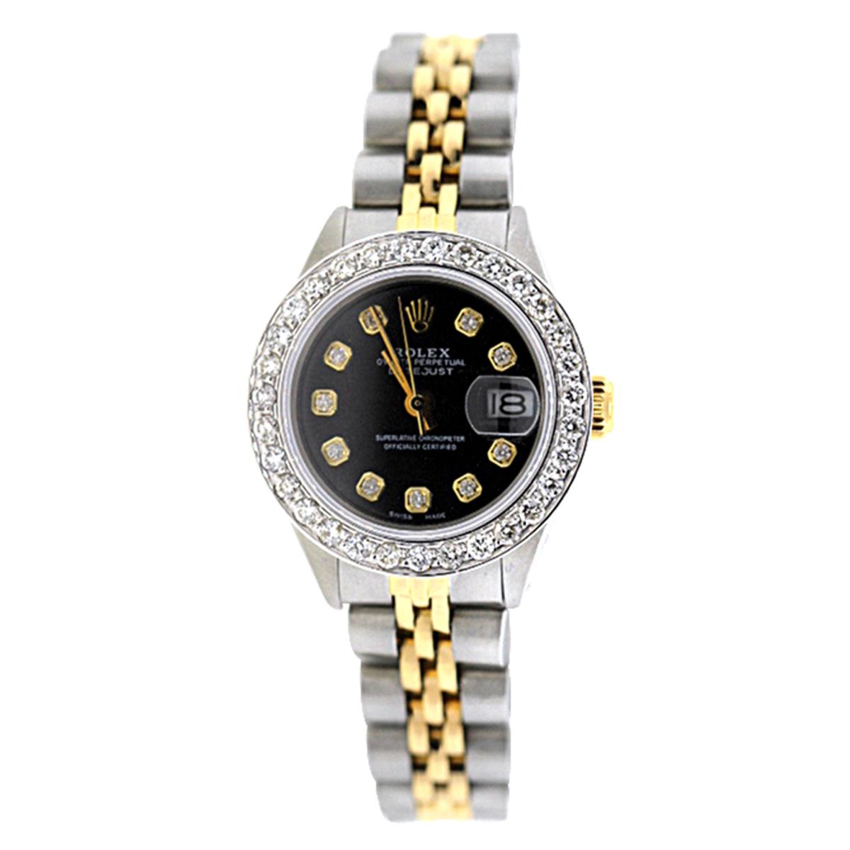 Rolex Datejust Ladies Diamond Bezel Watch 1.5ct