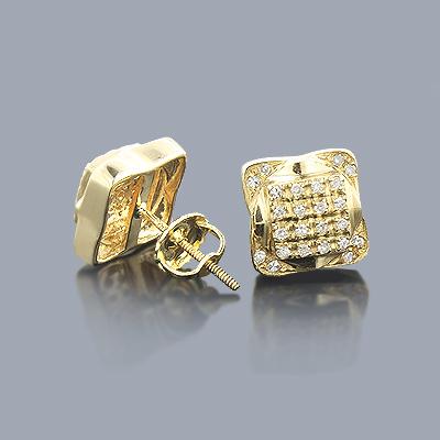 Round Diamond Earrings 0.24ct 14K