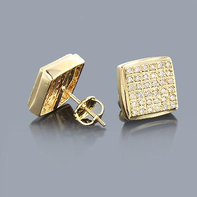 Round Diamond Earrings 14K 0.34ct