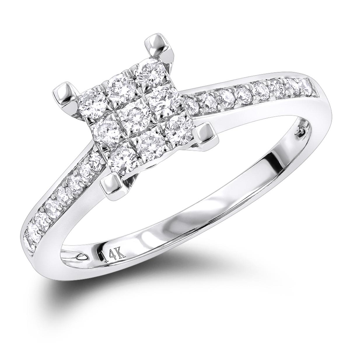 Round Diamond Engagement Ring 0.4 ct 14K Gold