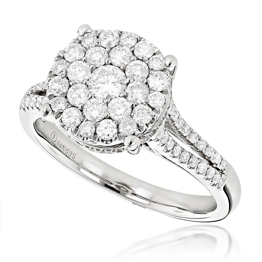 Round Diamond Engagement Ring 1.03ct 14K Gold