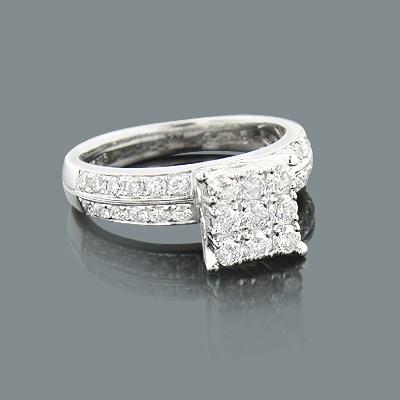 Round Diamond Engagement Ring 1.08ct 14K GOld