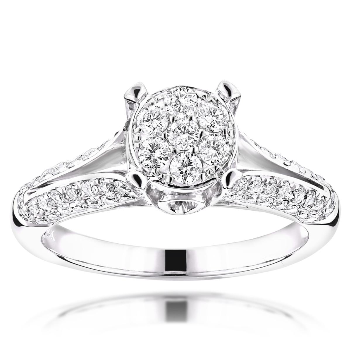 Round Diamond Engagement Ring 14K 1.16ct