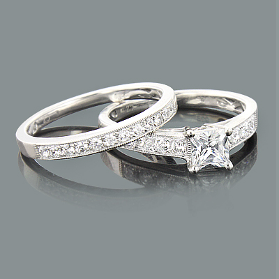 Round Diamond Engagement Ring Mounting Set 0.51ct 14K