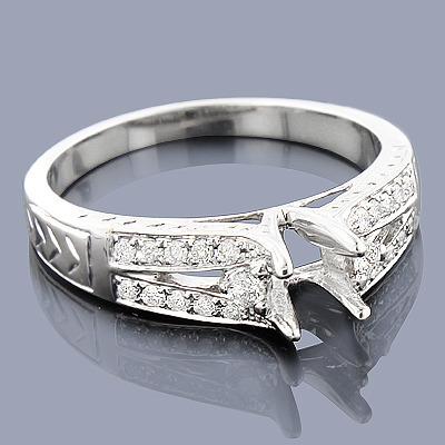 Round Diamond Engagement Ring Setting 0.29ct 14K
