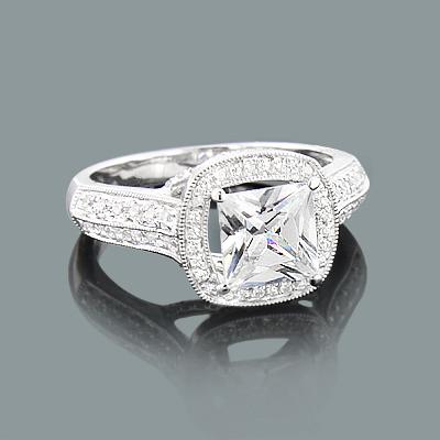 Round Diamond Engagement Ring Setting 0.53ct 14K Gold