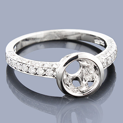 Round Diamond Engagement Ring Setting 0.98ct 14K