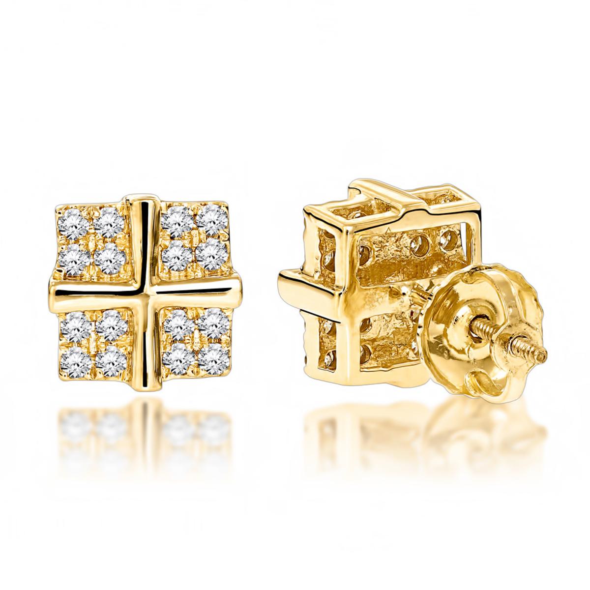 Round Diamond Stud Earrings 0.35ct 14K Gold