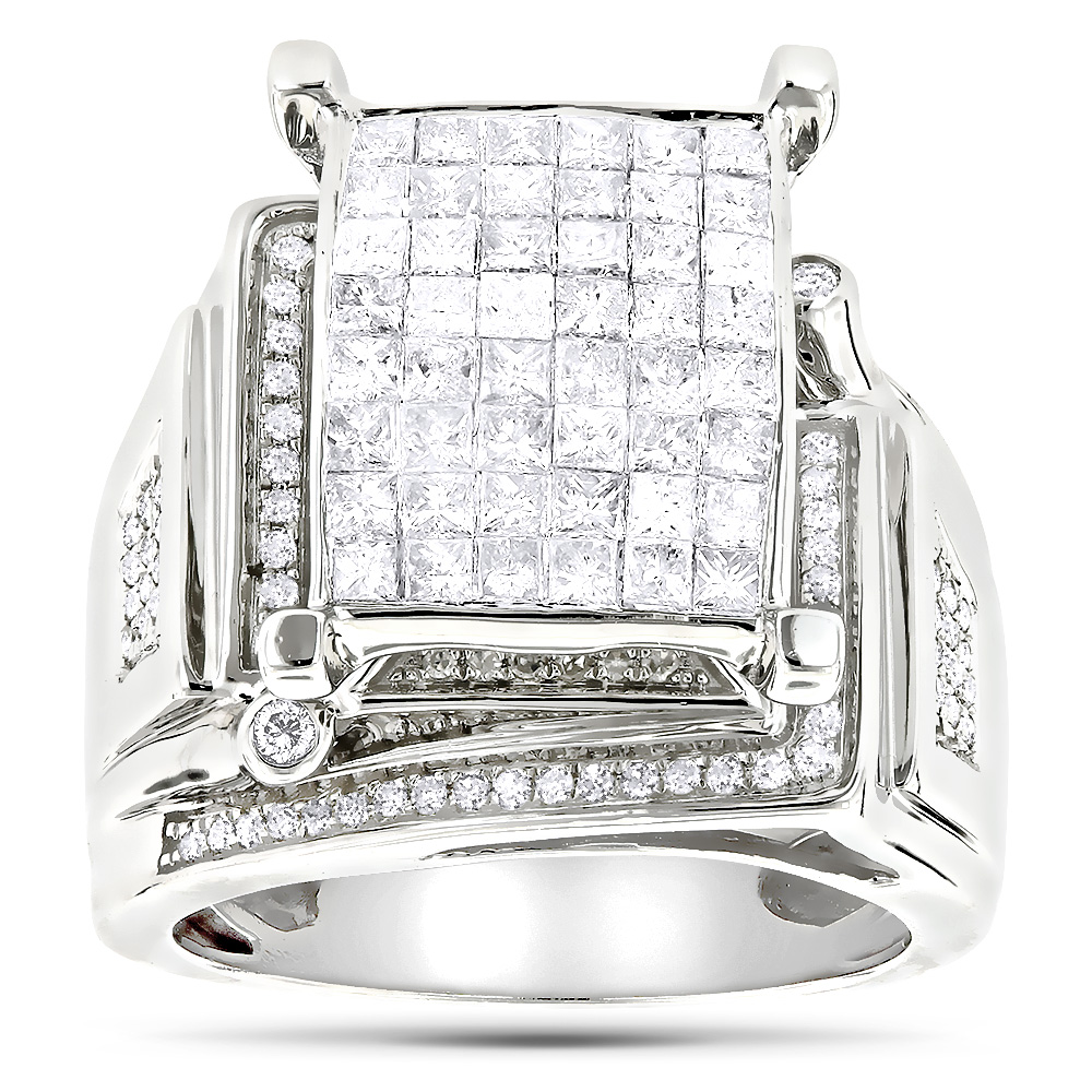 Round Princess Cut Diamond Engagement Ring 1.81ct 14K