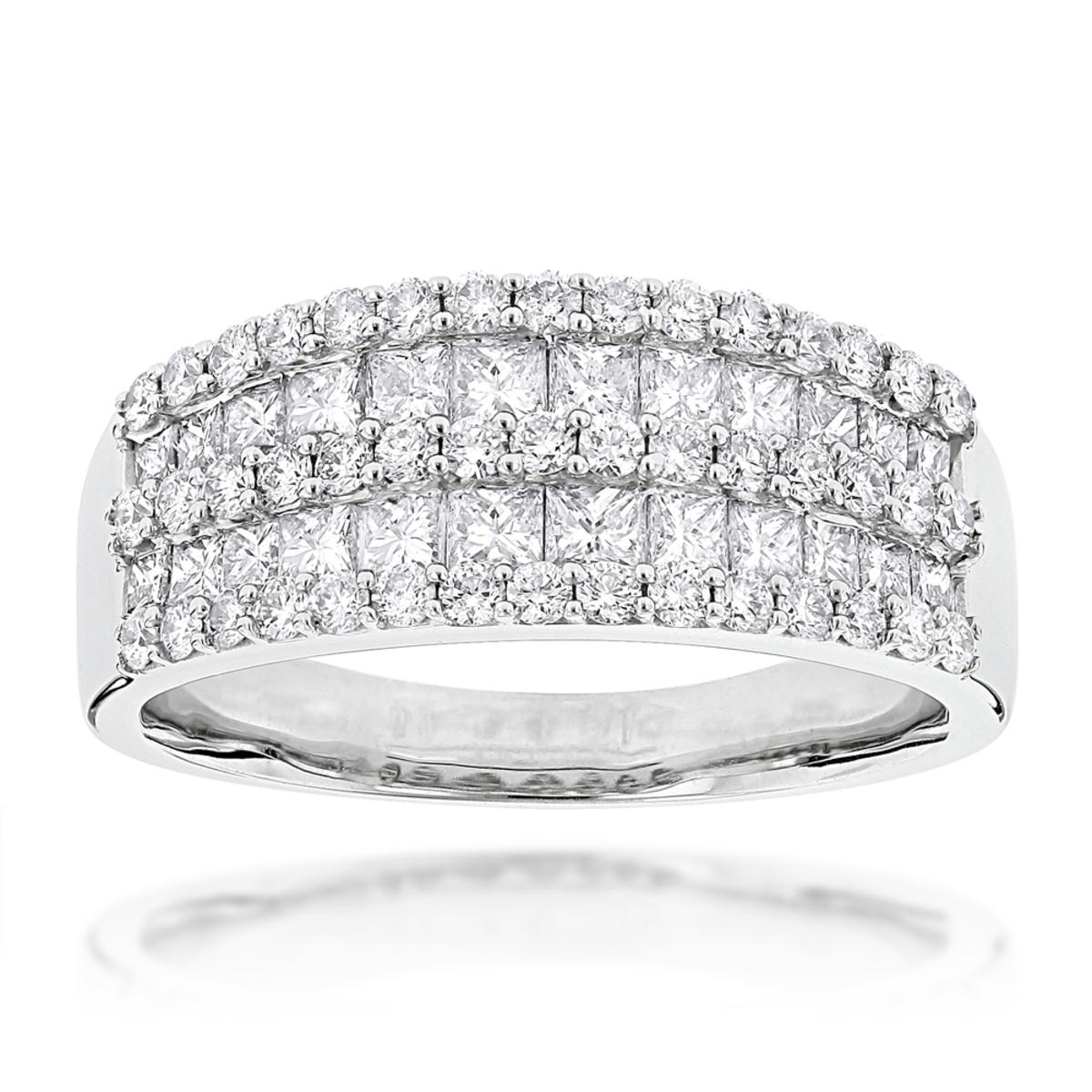 Round Princess Cut Diamond Ring 1.87ct 14K