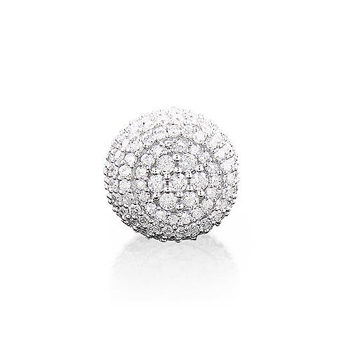 Single Pave Diamond Earring 14K Gold 0.66ct Men's