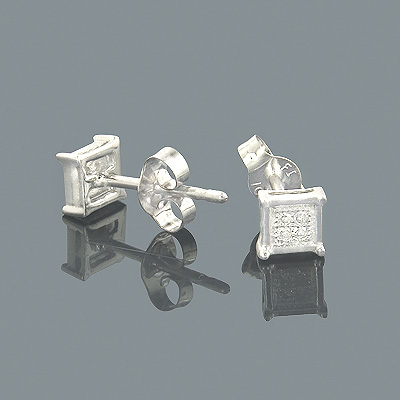 Small Diamond Earrings 10K Gold Diamond Studs 0.05ct