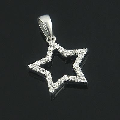 Small Diamond Pendants 14K Diamond Star Pendant 0.17ct