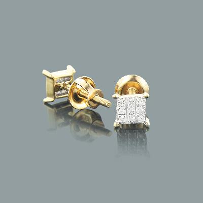 Small Diamond Stud Earrings 0.06ct 10K Gold