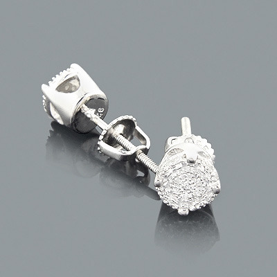 Small Diamond Stud Earrings 0.1ct Sterling Silver