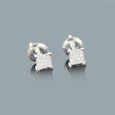 Small Diamond Stud Earrings 0.25ct Sterling Silver