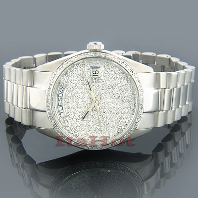 Solid Gold Watches Geneve Gold Diamond Watch 2ct