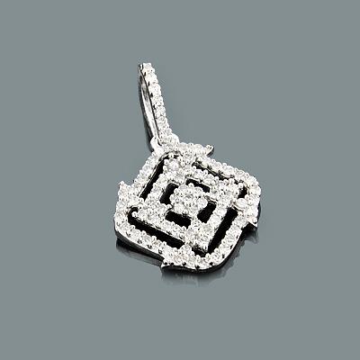 Sparkling Round Diamond Pendant for Ladies 0.23ct 14K Gold