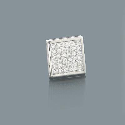 Square Shaped Mens Diamond Stud Earring 0.21ct 10K Gold
