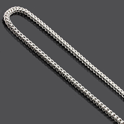 Stainless Steel Mens Franco Chain Necklace 4mm 34""