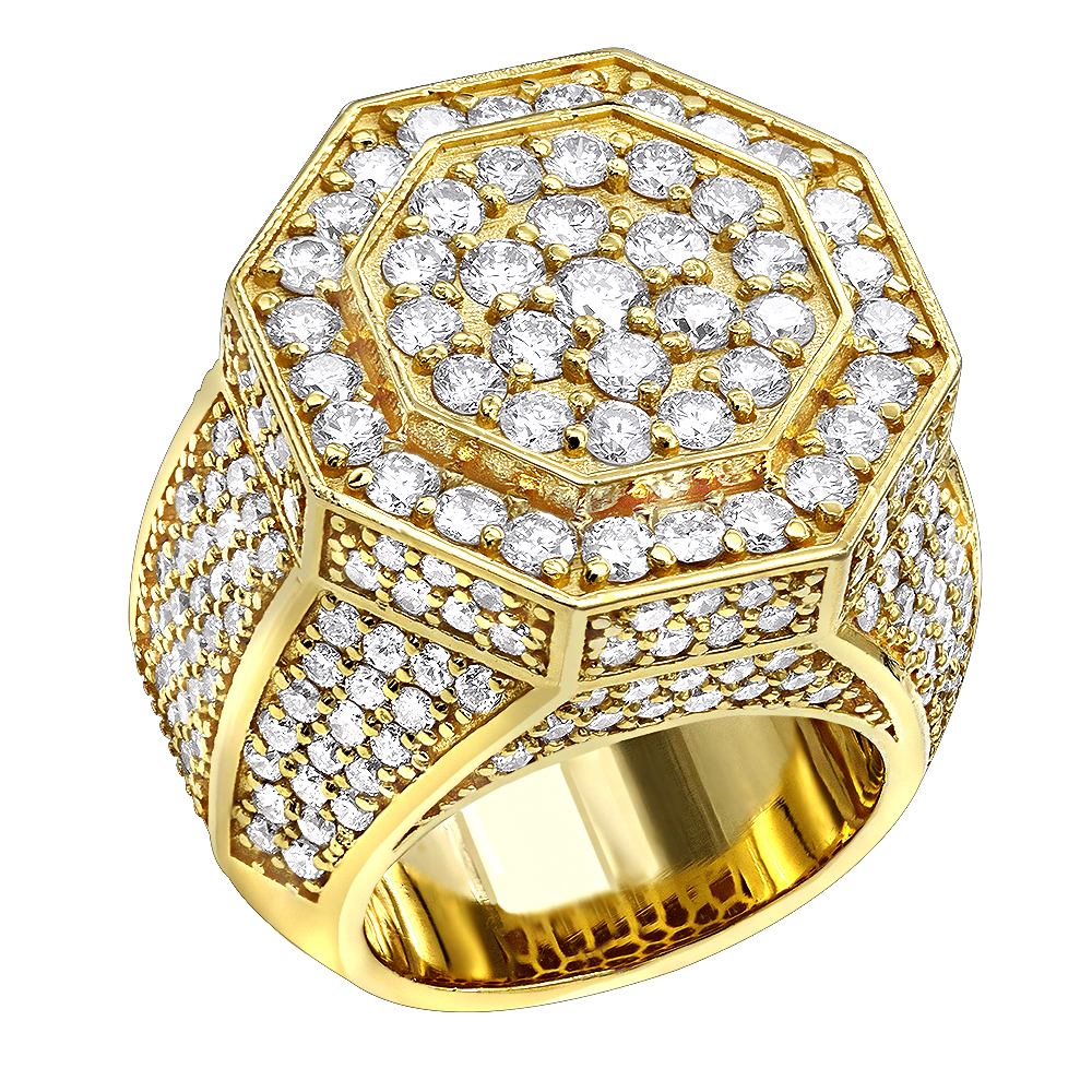 Statement Jewelry 14k Gold Men S Diamond Ring 7ct By Luxurman